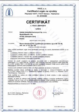 ZOK-TECH Certyfikat PVC 1_2_CZ