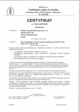 ZOK-TECH Certyfikat PVC